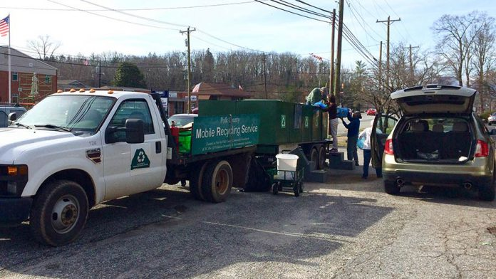 Weekly mobile recycling stop in Columbus changing locations